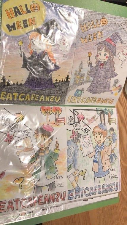 EAT CAFE ANZU・ぬり絵MVP受賞作品