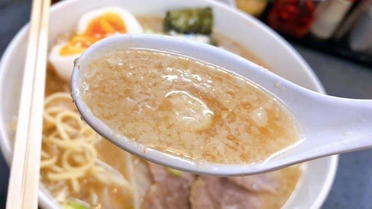 肉肉ラーメンのスープ(豚骨醤油)