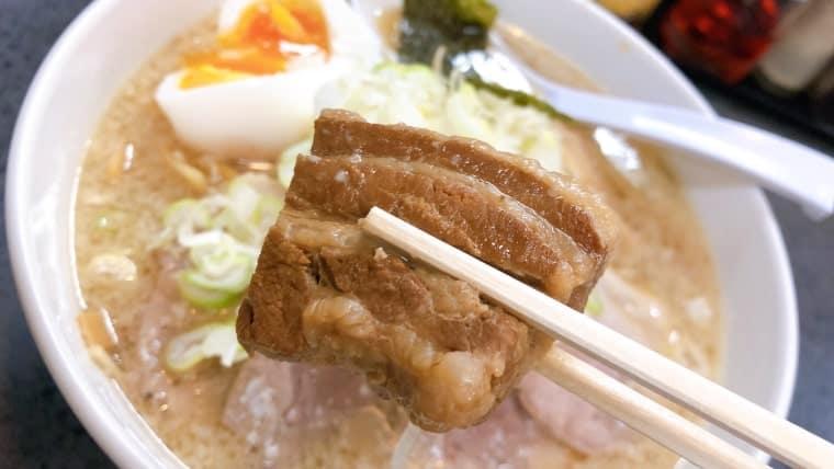 肉肉ラーメンの角煮!