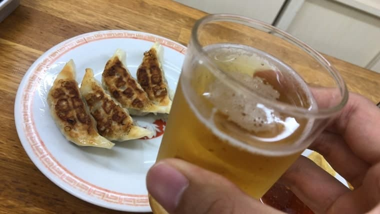 亀戸餃子・餃子とビール