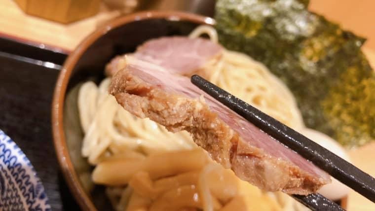 舎鈴のつけ麺のチャーシュー