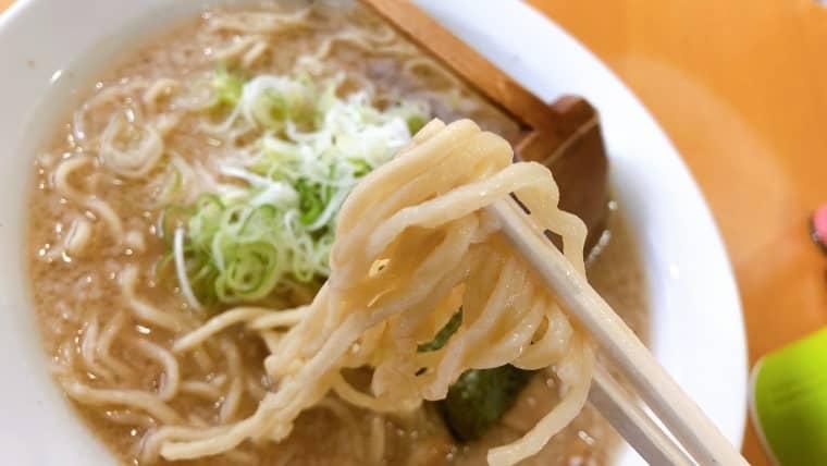 麺屋 悠信・浅草開化楼の中太麺