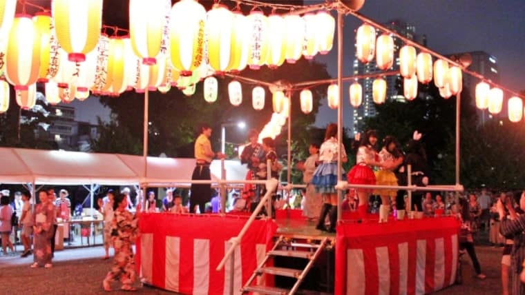 亀戸三丁目祭りの様子・藤まつり音頭
