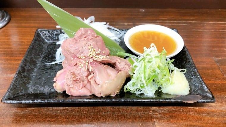 粋・低温調理鶏レバ刺風