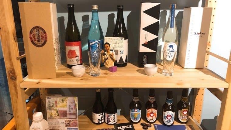 地酒の陳列棚