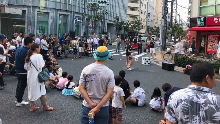 亀戸大道芸1