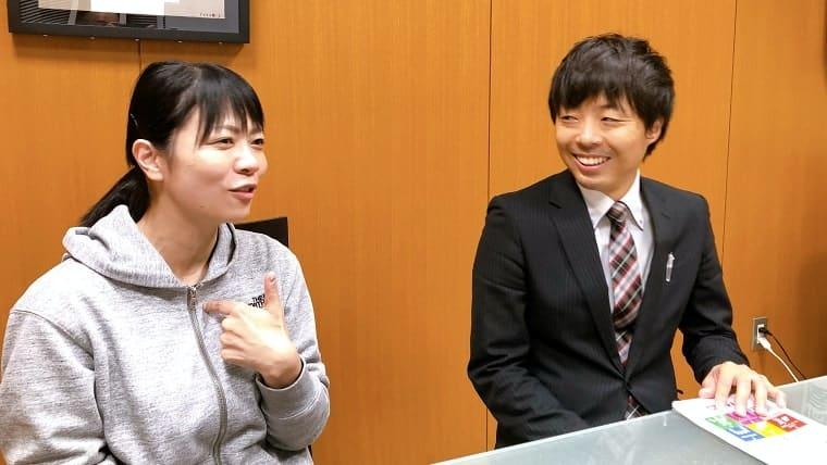 船橋屋の執行役員 佐藤さんと舘野さんのツーショット