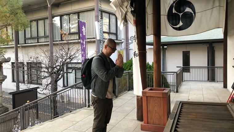 亀戸香取神社で祈願
