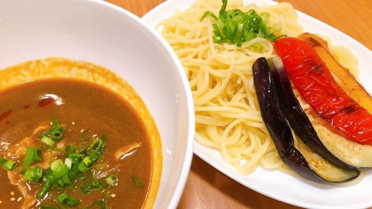 冷やしカレーつけ麺(生パスタ使用)